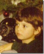 Johno, age 6, Christmas 1977